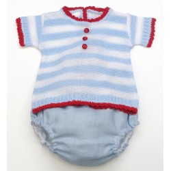 Sweater+Diaper cover Md.1313
