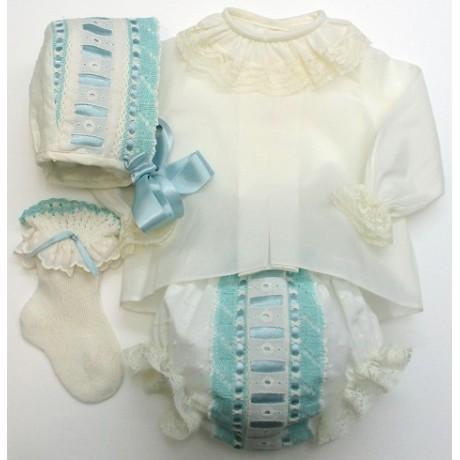 Camisa lisa ml+ braga+capota+calcetin