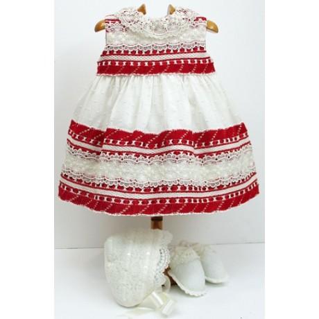 Vestido+braga+capota+patucos