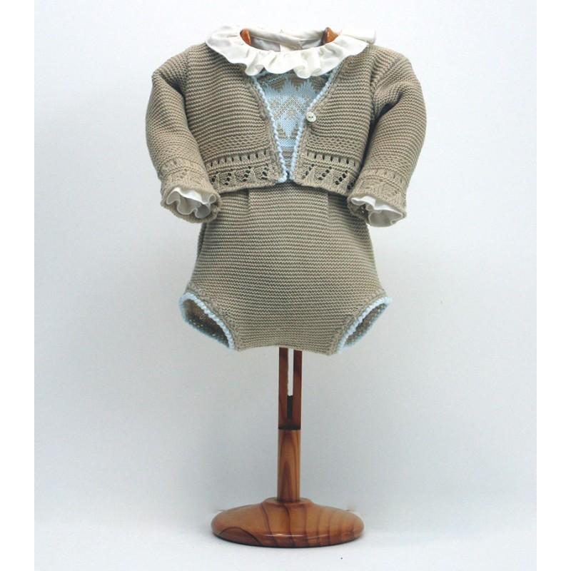 Pelele peto, camisa y chaqueta Md.1759