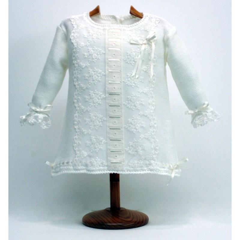 Vestido encajes tul bordado Md.1762