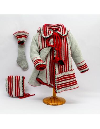 Abrigo austriaco, pelele, capota y...